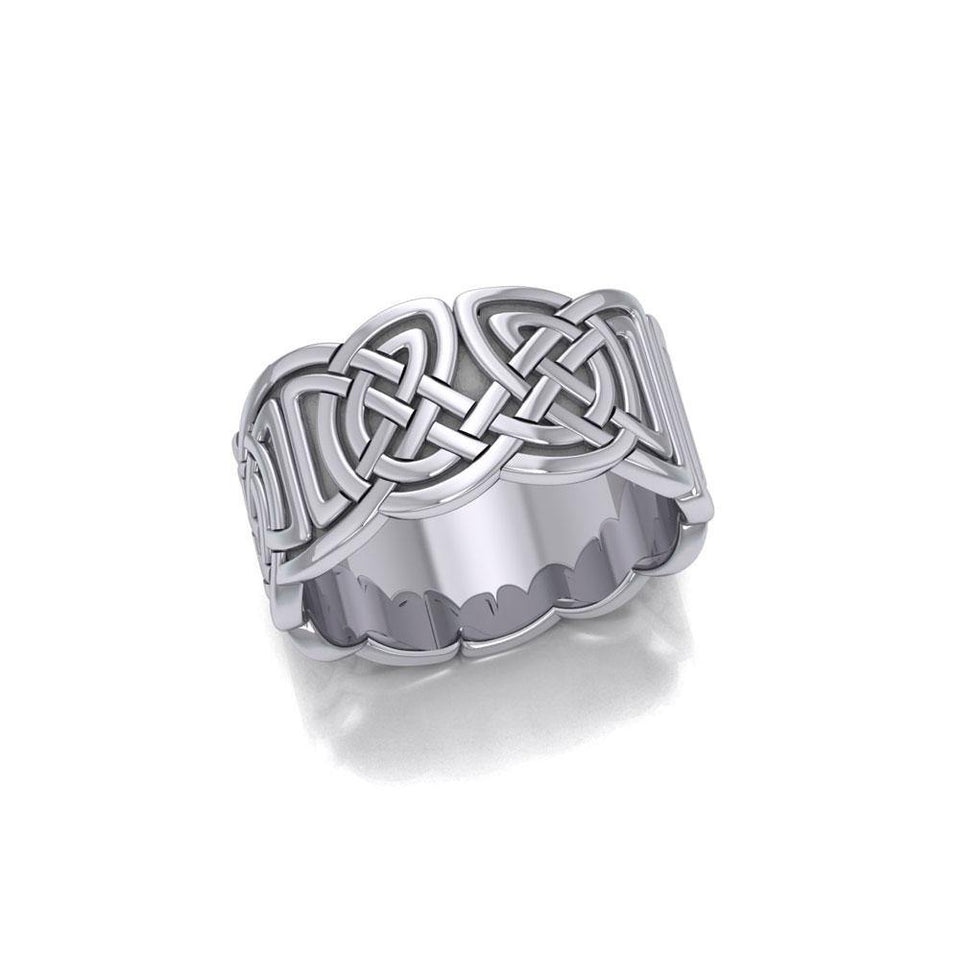 Celtic Knotwork Silver Ring TR661 peterstone.