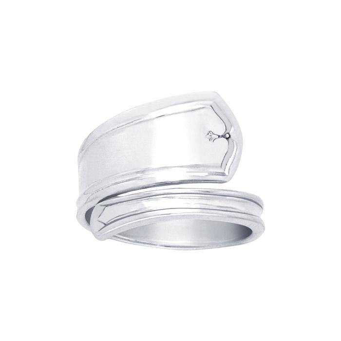 Silver Spoon Ring TR828 peterstone.