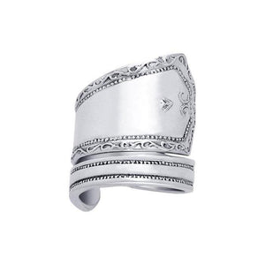 Silver Spoon Ring TR829 peterstone.