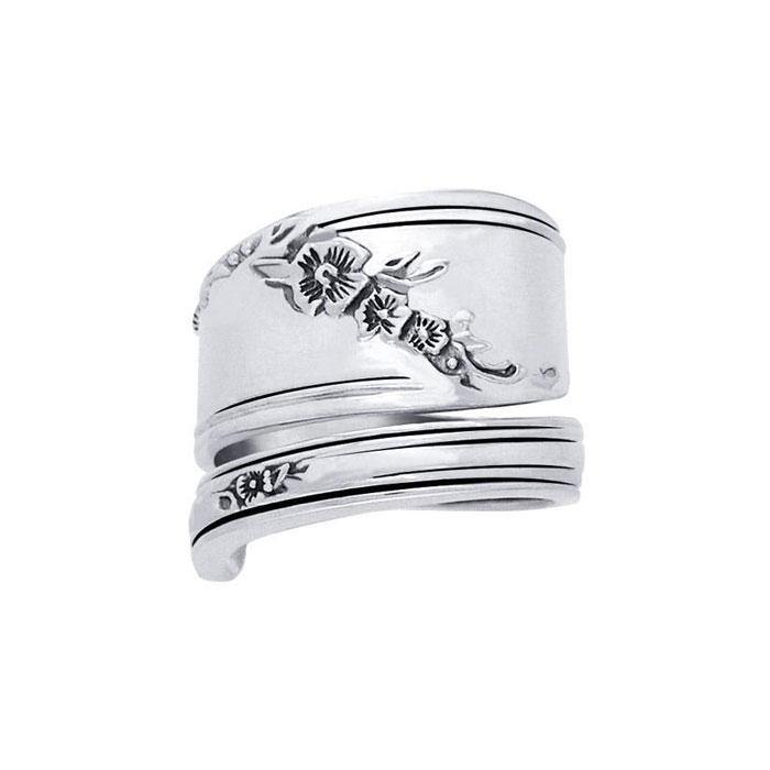 Silver Spoon Ring TR835 peterstone.