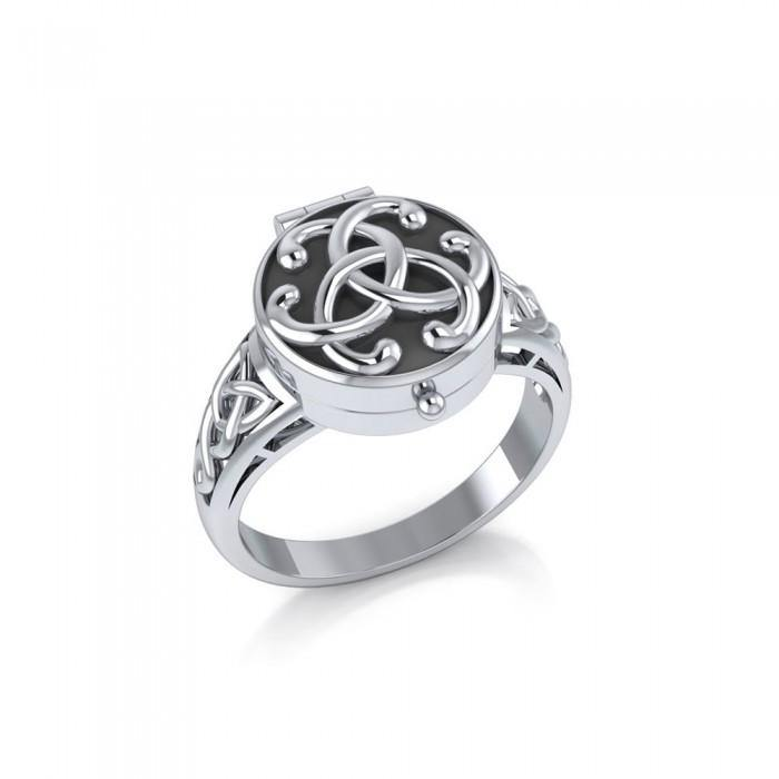 Celtic Knotwork Poison Ring TR844