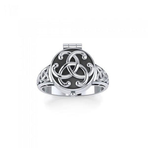 Celtic Knotwork Poison Ring TR844 peterstone.