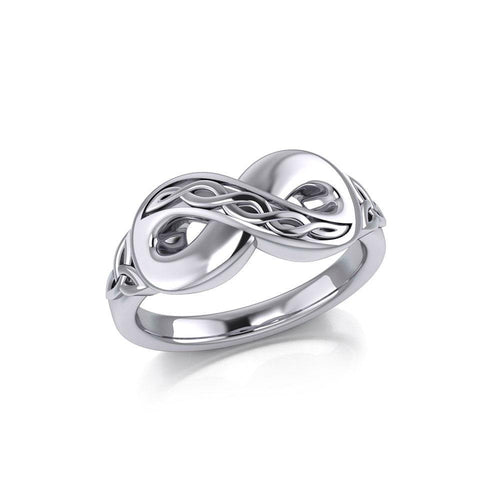 Celtic Infinity Silver Ring TRI1023 peterstone.