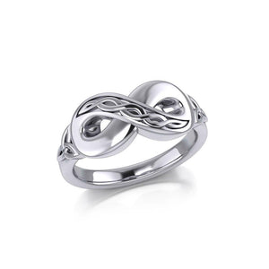 Celtic Infinity Silver Ring TRI1023