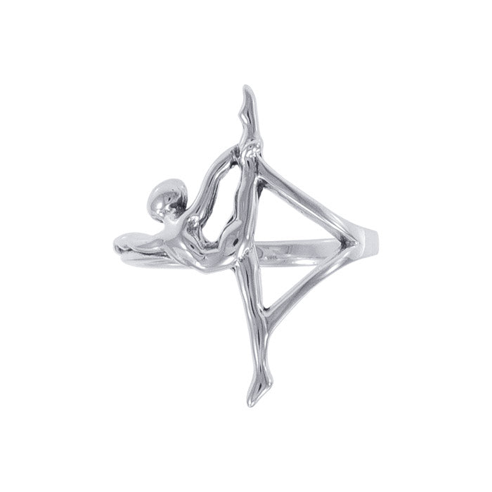 Glow in the Power of Yoga ~ A Sterling Silver Ring TRI1068 peterstone.