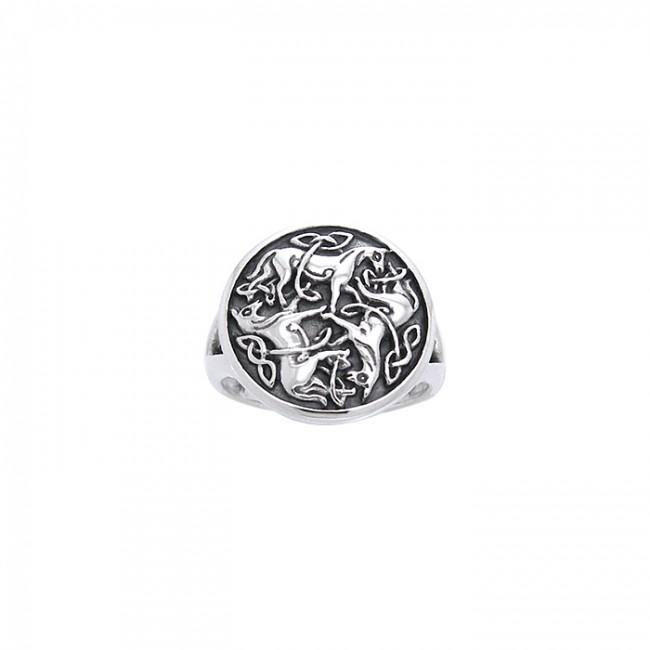 Celtic Knot Horse Ring TRI1113