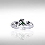Follow Me on the Road to Infinity Irish Claddagh Ring TRI1117 peterstone.