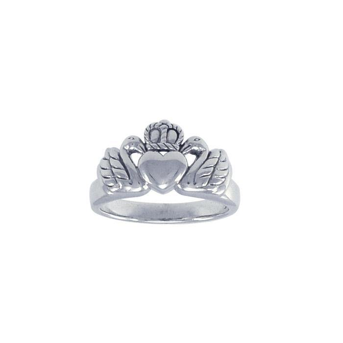 Swan Claddagh Ring TRI1144