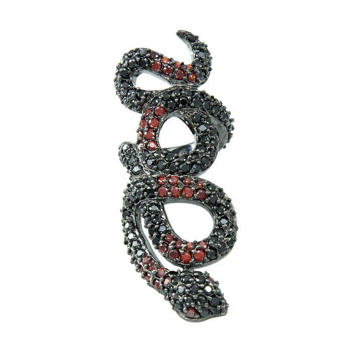 Crystal Snake Ring by Amy Zerner TRI1161 peterstone.