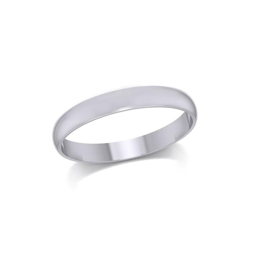 Silver Medium Size Band Ring TRI1163 peterstone.