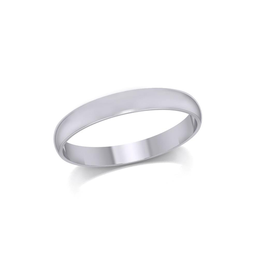 Silver Medium Size Band Ring TRI1163