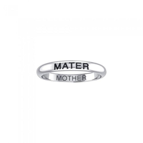 MATER MOTHER Sterling Silver Ring TRI1174 peterstone.