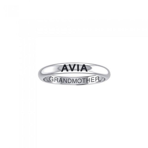 AVIA GRANDMOTHER Sterling Silver Ring TRI1177 peterstone.