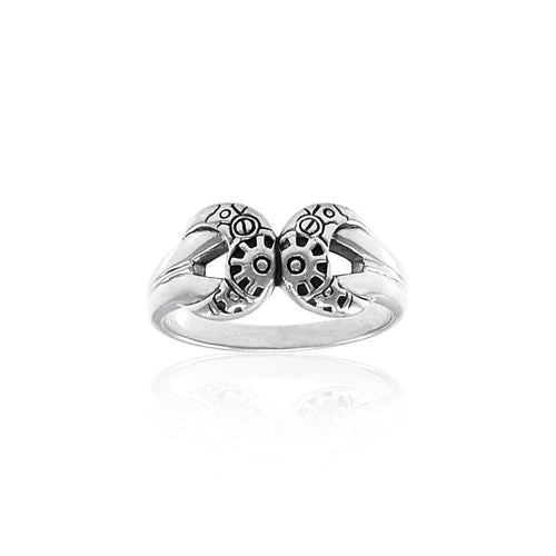 Steampunk Sterling Silver Ring TRI1263 peterstone.