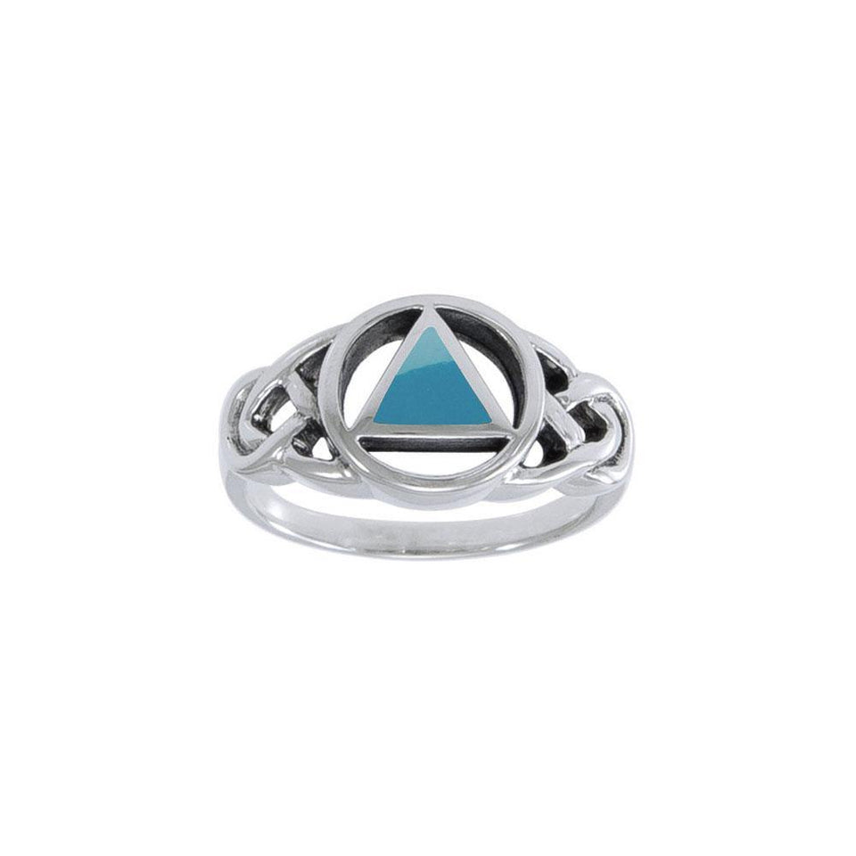 AA Recovery Inlaid Silver Ring TRI1273