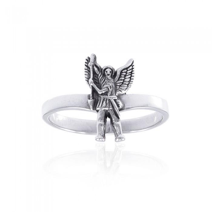 Archangel Michael Ring TRI1330 peterstone.