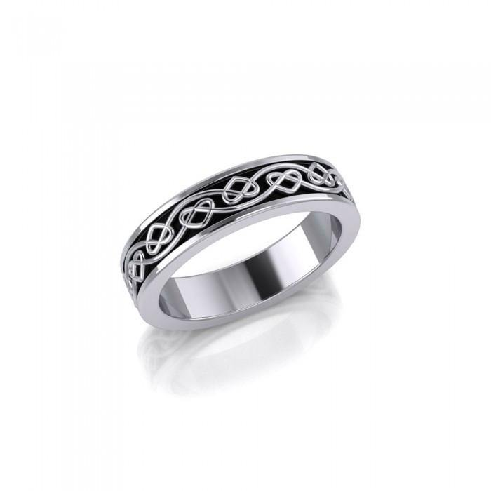 Celtic Knotwork Silver Ring TRI1345 peterstone.