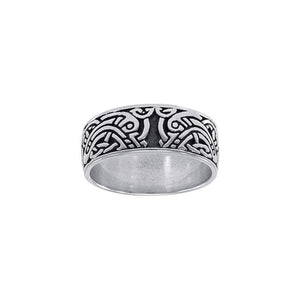 Celtic Knotwork Silver Ring TRI1347 peterstone.