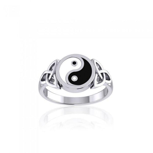 Celtic Yin Yang Triquetra Ring TRI1390 peterstone.