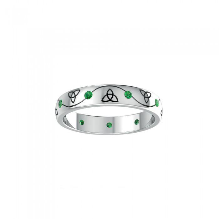 Celtic Trinity Knots Ring TRI1475 peterstone.