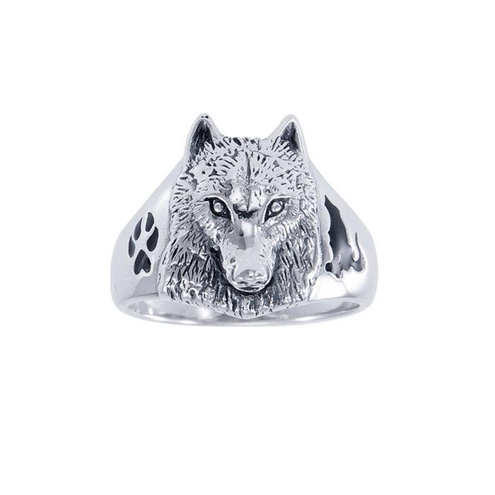 Ted Andrews Wolf Ring TRI147