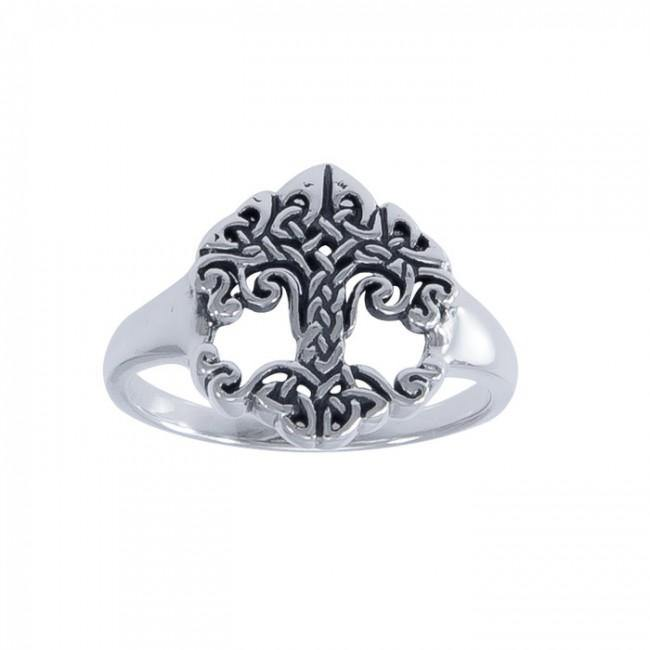 The Revered Tree of Life by Cari Buziak ~ Sterling Silver Ring TRI1533