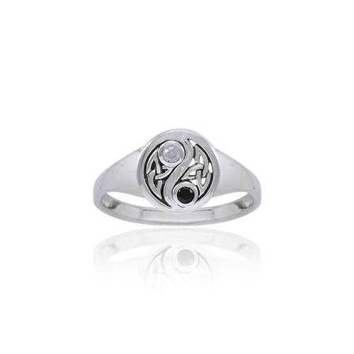 Celtic Knot Yin Yang Ring TRI1537 peterstone.