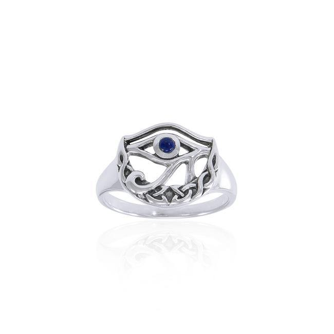 Eye of Horus Celtic Moon Ring TRI1544