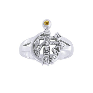 Gemstone Cimaruta Witch Ring TRI1580