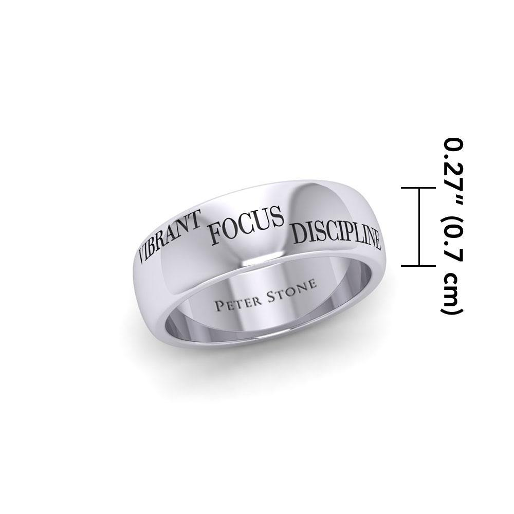 3 Words That Matter Plain Silver Ring TRI1650C