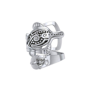 Aboriginal Inspired Turtle Sterling Silver Ring TRI1739