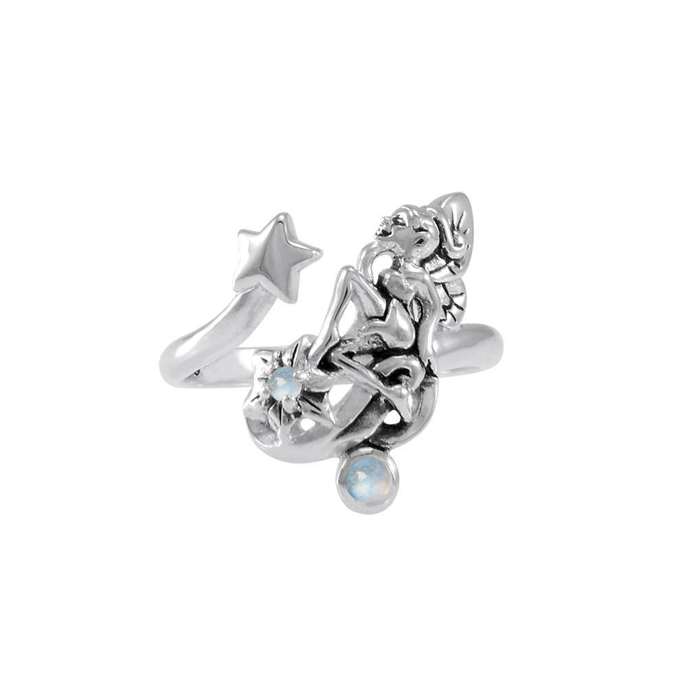 Fairy with Star Silver Ring with Gemstone TRI1822