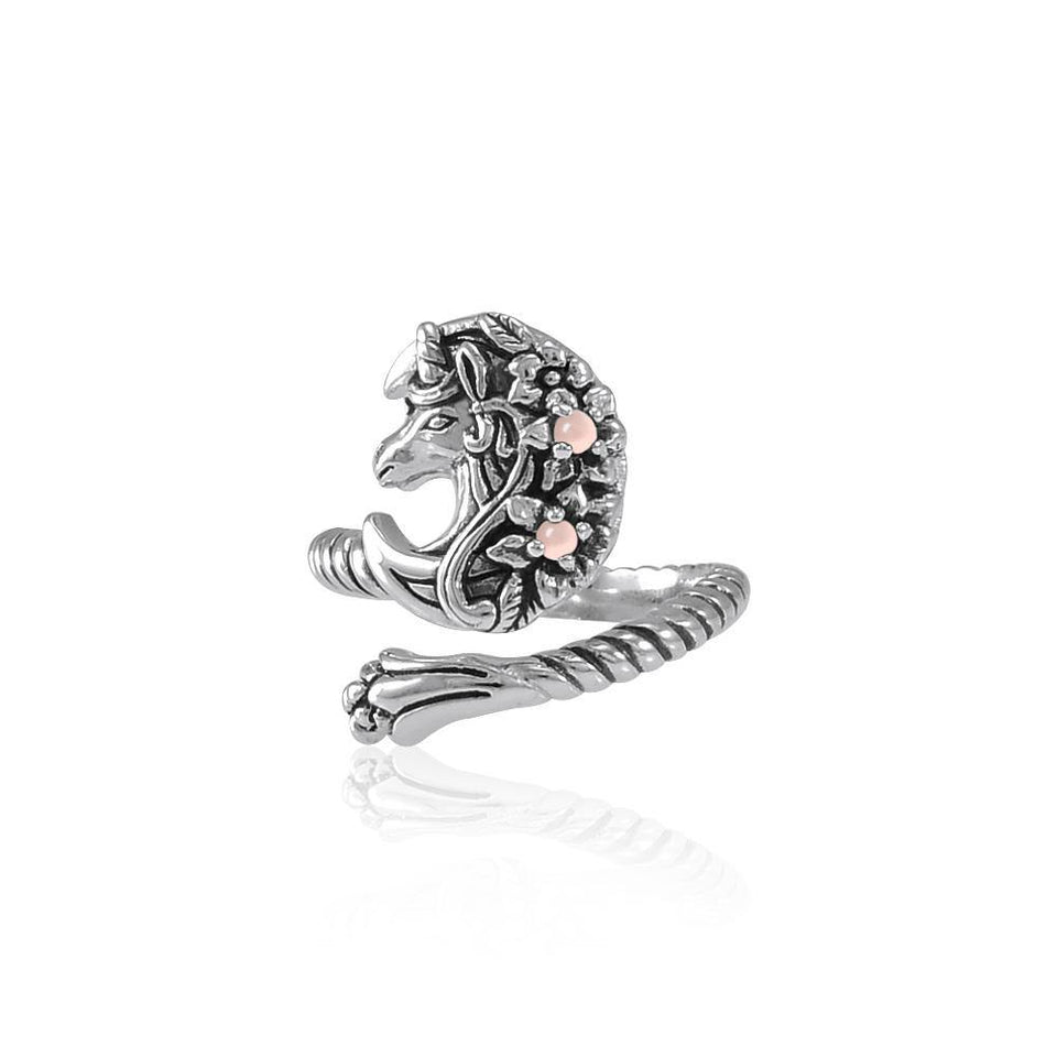 Enchanted Sterling Silver Mythical Unicorn Ring with Gemstone TRI1830