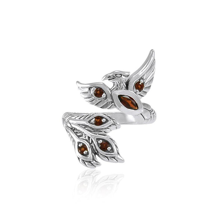 Alighting breakthrough of the Mythical Phoenix Silver Ring with Gems TRI1835
