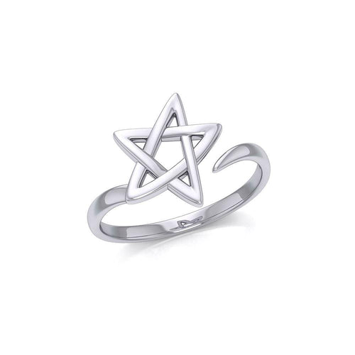 The Star Silver Wrap Ring TRI1891 peterstone.