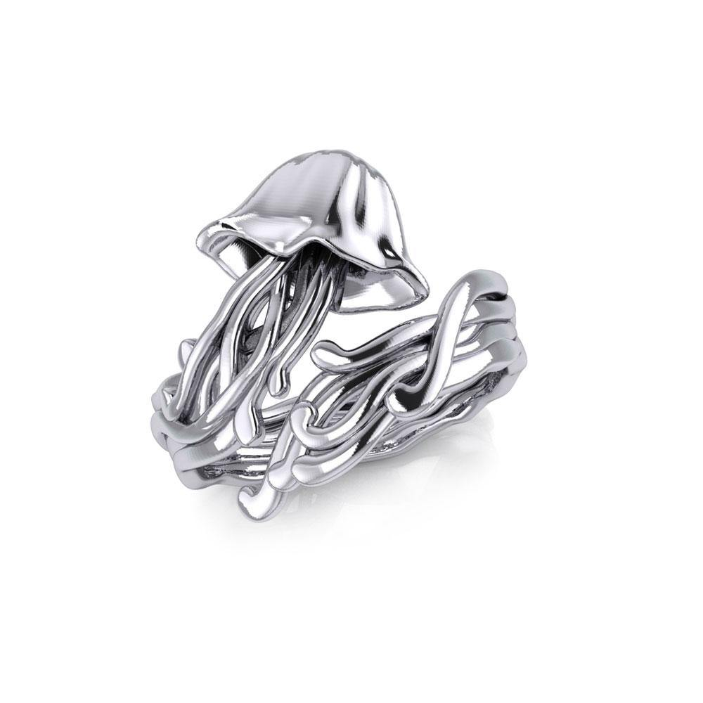Box Jellyfish Silver Wrap Ring TRI1896