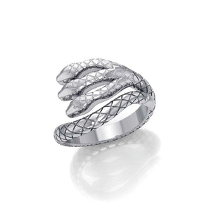 Fierce and Ferocious Sterling Silver Three Headed Cobra Ring TRI1899