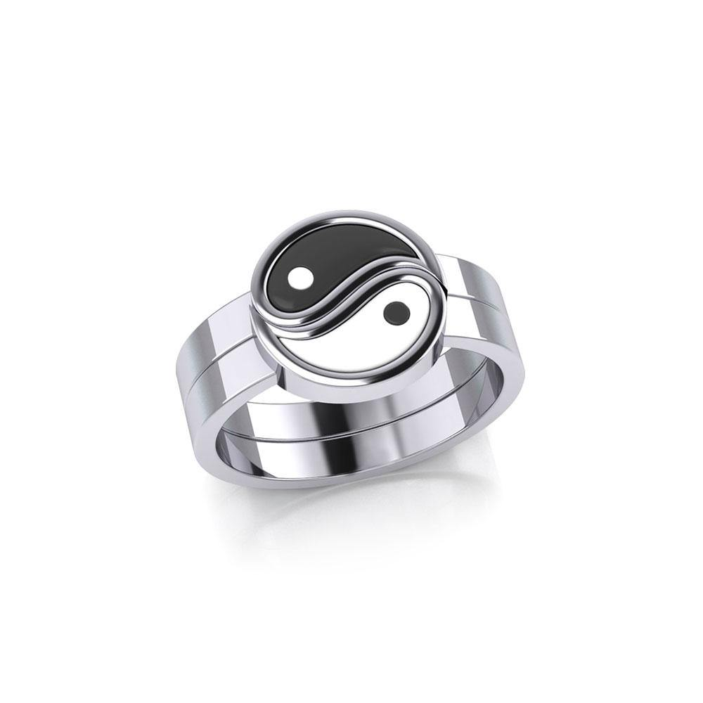 Yin Yang Love Silver Commitment Ring TRI1940