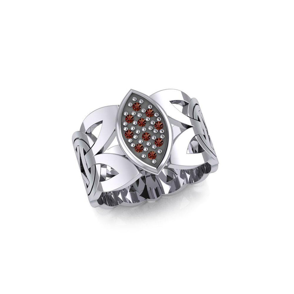 Borre Silver Ring with Gemstones TRI1948