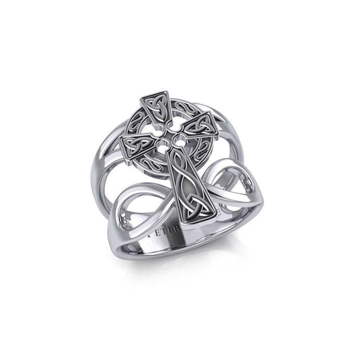 Celtic Cross with Infinity Silver Ring TRI1952