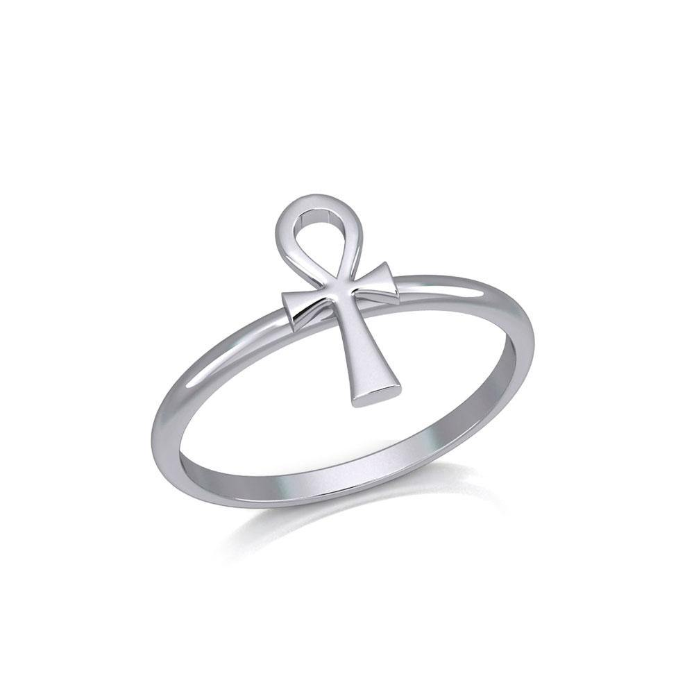 Egyptian Ankh Silver Ring TRI2055