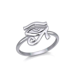 Beyond the symbolism of the Eye of Horus Silver Ring TRI2056 peterstone.