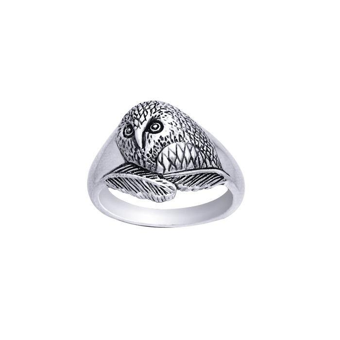 Ted Andrews Barn Owl Ring TRI205