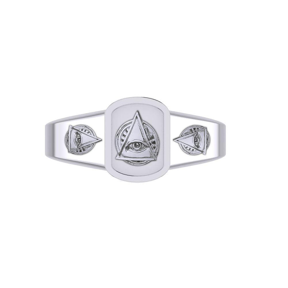Eye of Wisdom Silver Ring TRI2102 peterstone.
