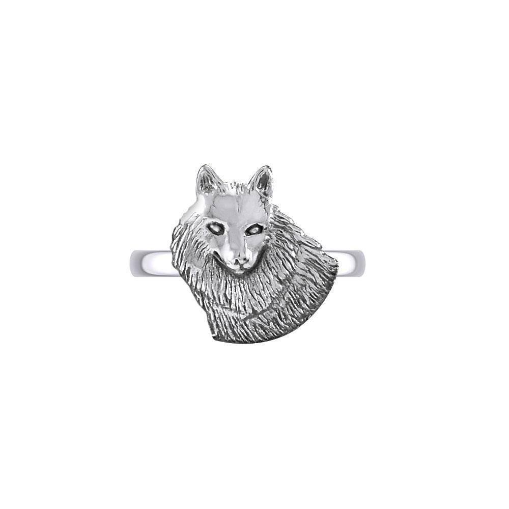 Wonderful Wolf Sterling Silver Ring TRI2125 peterstone.