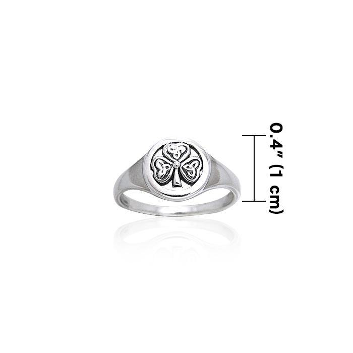 Celtic Shamrock Silver Ring TRI248