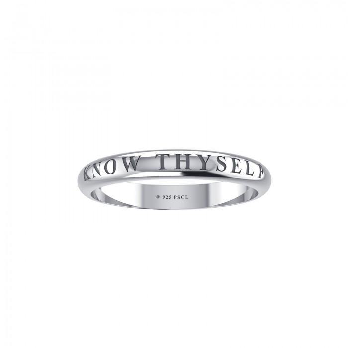 Know Thyself Silver Ring TRI410 peterstone.