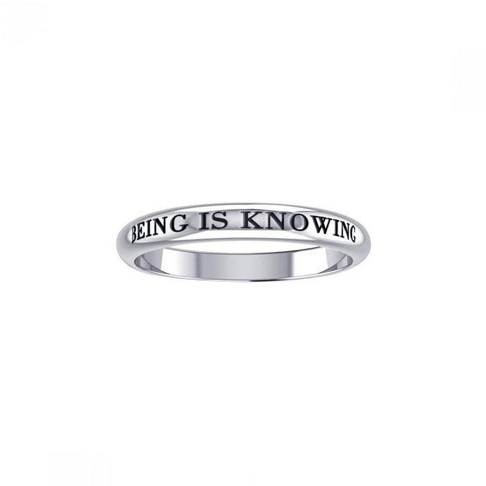 Being is Knowing Empower Words Silver Ring TRI412 peterstone.