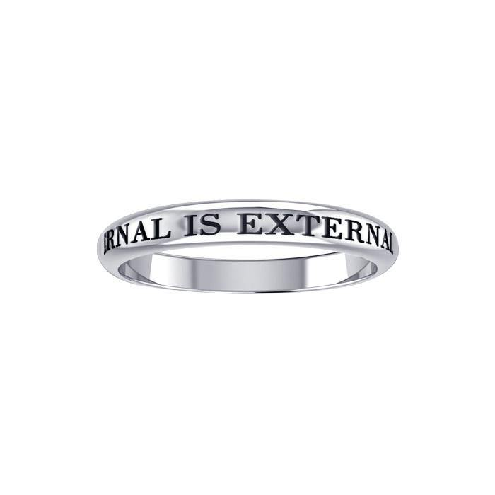 Internal is External Silver Ring TRI413