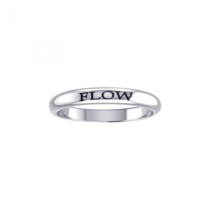 Flow Silver Ring TRI416 peterstone.